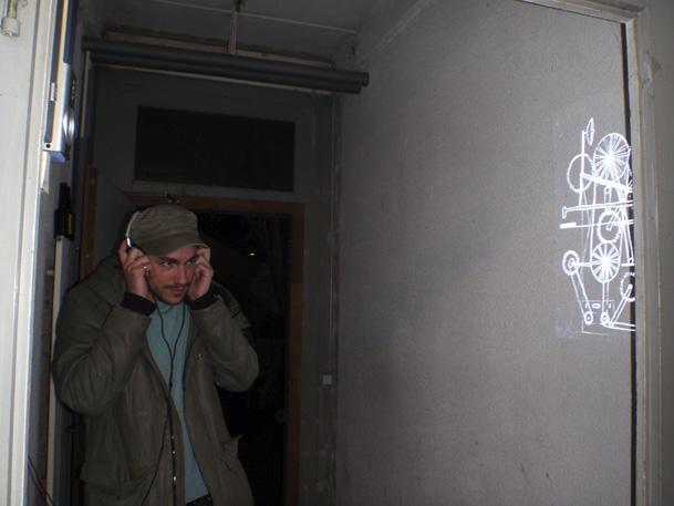 Projektion im Dienstgebäude